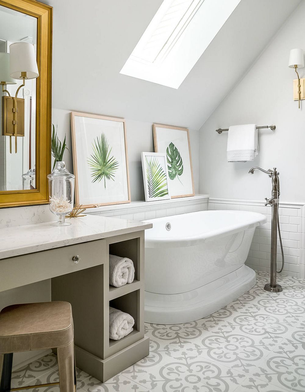 brilliant-use-of-framed-botanicals-on-a-ledge-next-to-the-freestanding-bathtub-in-the-revamped-attic-bathroom-58260-9053891-9037222-6688035