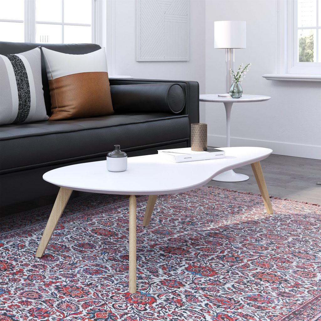 kidney-shaped-coffee-table-white-top